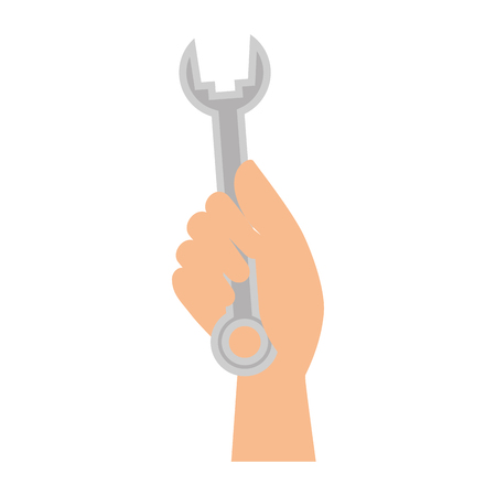 hand worker with wrench tool isolated icon vector illustration design Reklamní fotografie - 87230253