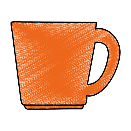 컵 커피 격리 된 아이콘 벡터 일러스트 디자인