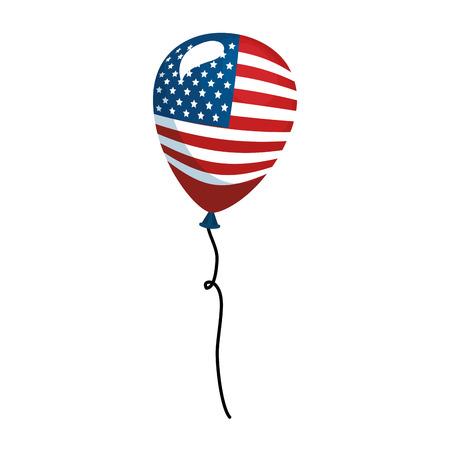 united states of america balloon celebration vector illustration design