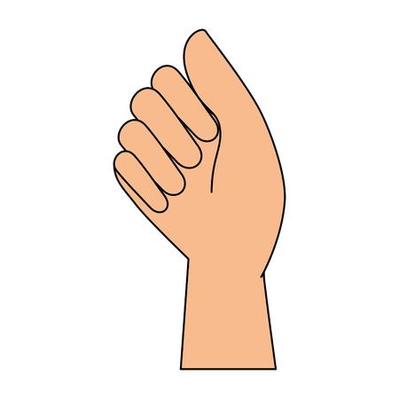 hand human fist icon vector illustration design Ilustração