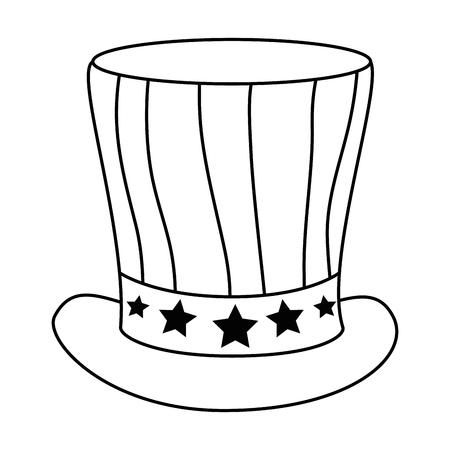 united states of america hat vector illustration design Stock Vector - 87230302