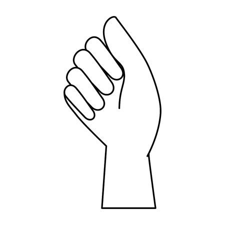 hand human fist icon vector illustration design Иллюстрация