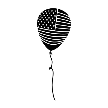 united states of america balloon celebration vector illustration design