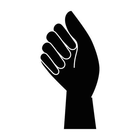 人間の拳アイコン ベクトル イラスト デザインを手します。