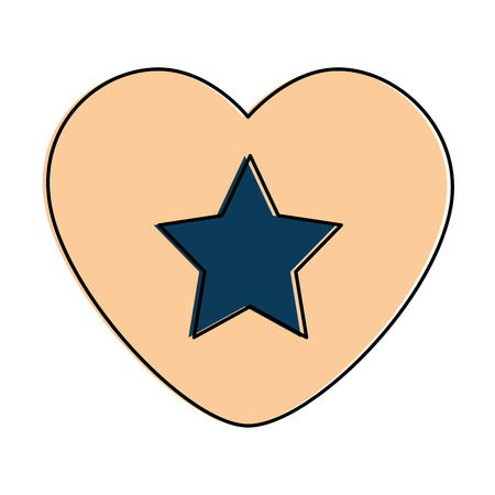 heart with star isolated icon vector illustration design Reklamní fotografie - 87230389
