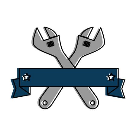 wrenchs labour day celebration emblem vector illustration design