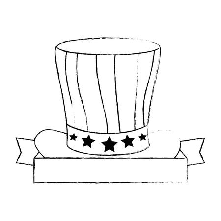 united states of america hat vector illustration design Stock Vector - 87230416