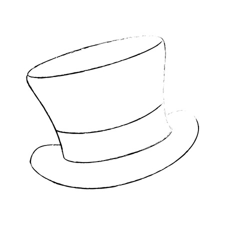 cilinder hat elegant icon vector illustration design Illustration