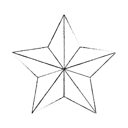 star emblem isolated icon vector illustration design