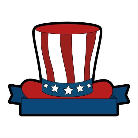 united states of america hat vector illustration design Stock Vector - 87231535