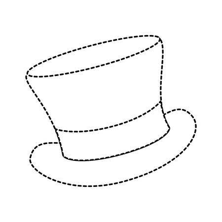 cilinder 모자 우아한 아이콘 벡터 일러스트 레이 션 디자인 일러스트