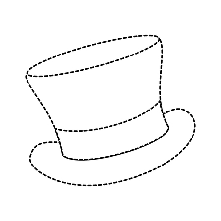 cilinder hat elegant icon vector illustration design 向量圖像