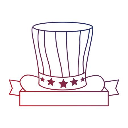 united states of america hat vector illustration design Illustration