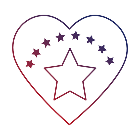 heart with star isolated icon vector illustration design Illustration