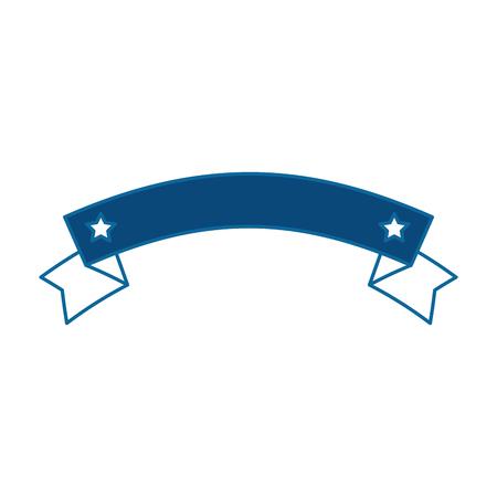 ribbon with stars frame vector illustration design Illustration