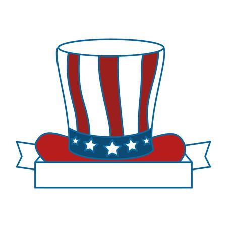 united states of america hat vector illustration design Stock Vector - 87231679