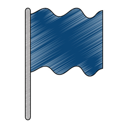 flag position isolated icon vector illustration design