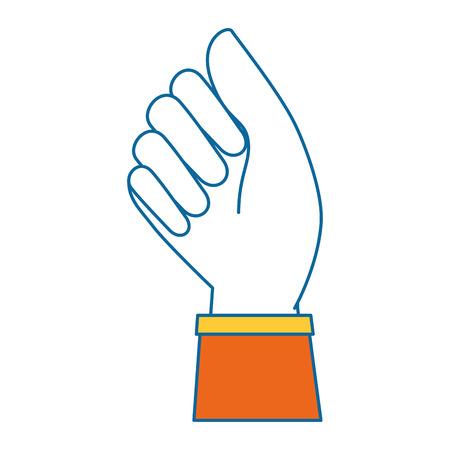 hand human fist icon vector illustration design Banco de Imagens - 87231740