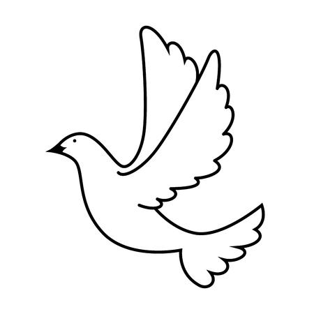 Paloma de la paz volando diseño de ilustración vectorial