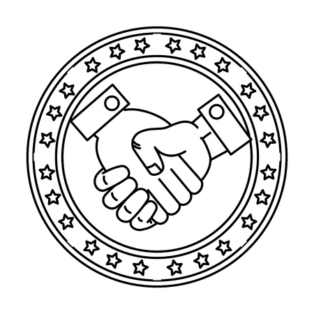 handshake done deal icon vector illustration design