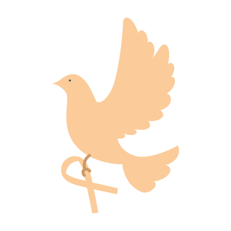 dove of peace flying with ribbon vector illustration design Stock fotó - 87231780
