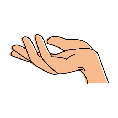 hand menselijk ontvangend pictogram vector illustratieontwerp Stock Illustratie