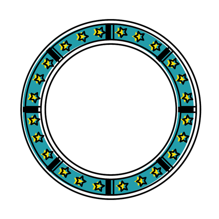 circle seal with stars vector illustration design Stock Vector - 87231912
