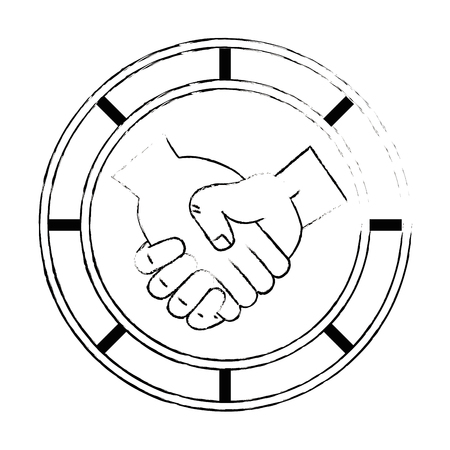 handshake done deal icon vector illustration design