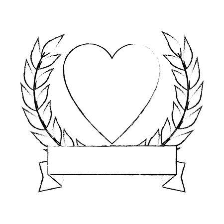 heart with ribbon icon vector illustration design