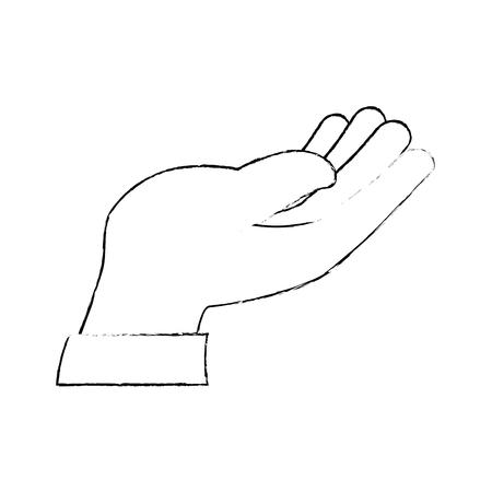 Main humaine recevoir icône illustration vectorielle conception Banque d'images - 87231939