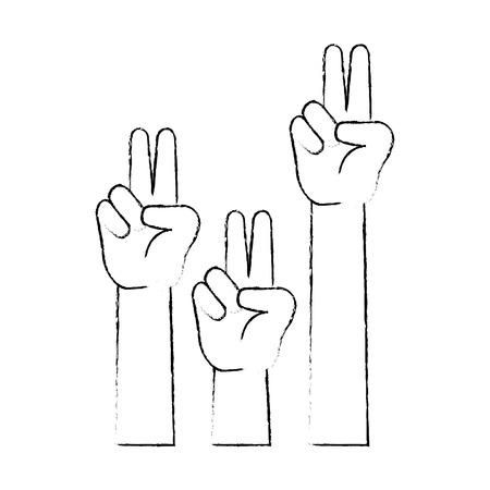 平和と愛の手シンボル ベクトル イラスト デザイン