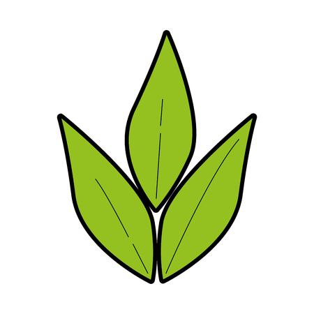 オリーブの枝の分離のアイコン ベクトル イラスト デザイン