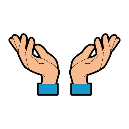 progettazione dell'illustrazione di vettore dell'icona di protezione umana delle mani