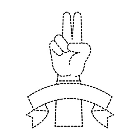 peace and love hand symbol vector illustration design