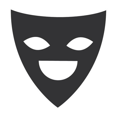 theater mask isolated icon vector illustration design Çizim