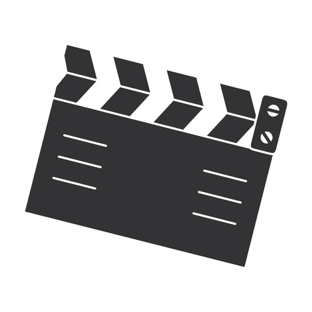 clapperboard cinema isolated icon vector illustration design Imagens - 87292568