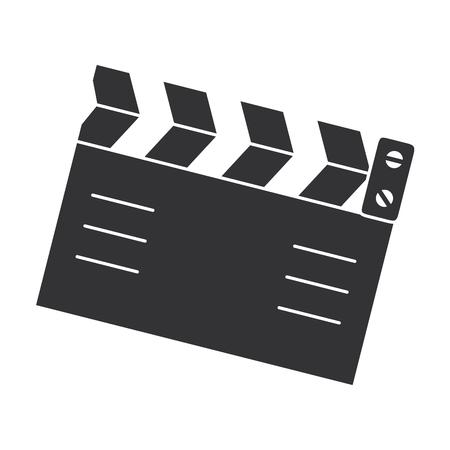 clapperboard cinema isolated icon vector illustration design