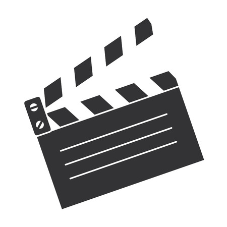 clapperboard cinema isolated icon vector illustration design