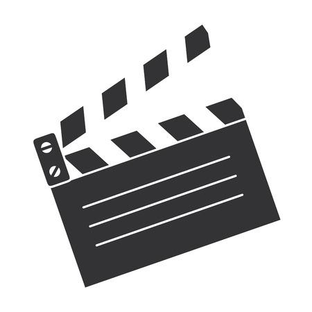 clapperboard kino na białym tle ikona wektor ilustracja projekt