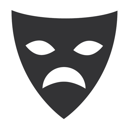 theater mask isolated icon vector illustration design Çizim