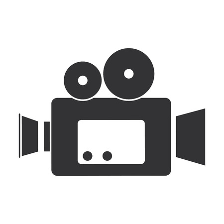 시네마 비디오 카메라 아이콘 벡터 일러스트 디자인