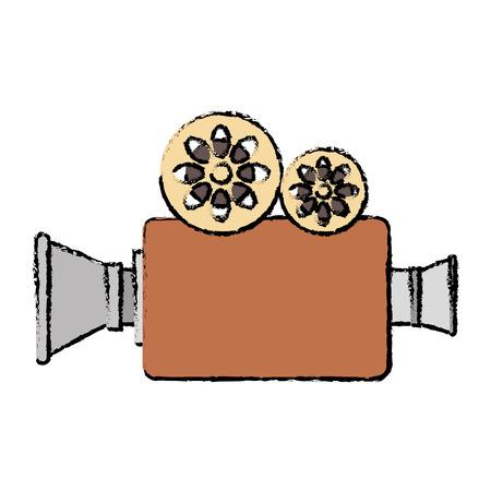 Conception de caméra vidéo cinéma icône illustration de vecteur Banque d'images - 87292589