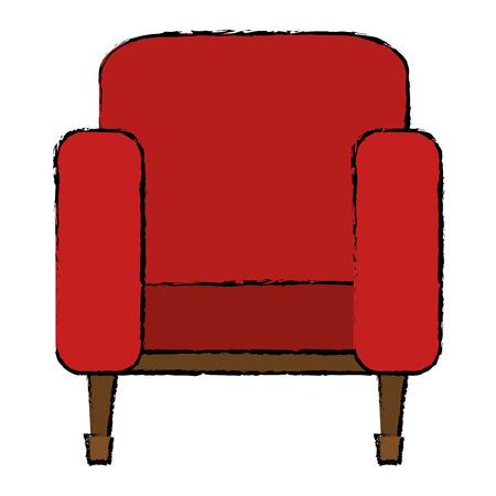 cinema chair isolated icon vector illustration design