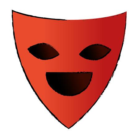 Maschera del teatro isolato icona illustrazione vettoriale progettazione Archivio Fotografico - 87292596
