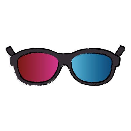 3d glasses cinema icon vector illustration design
