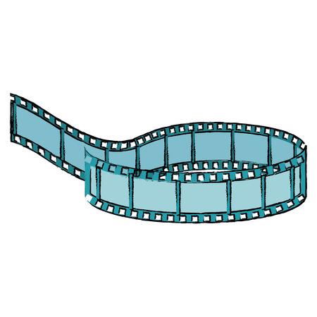 cinema tape record icon vector illustration design