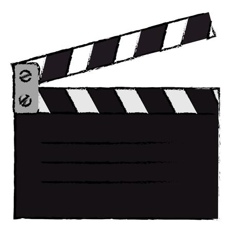 clapperboard cinema geïsoleerd pictogram vector illustratie ontwerp