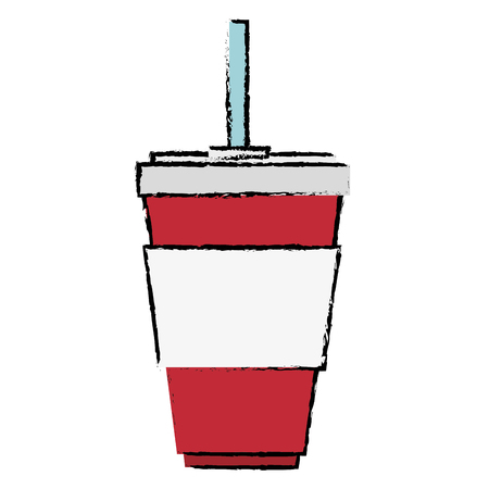 cup soda drink isolated icon vector illustration design Ilustração