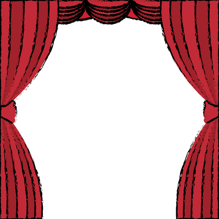 curtain theater isolated icon vector illustration design Illustration