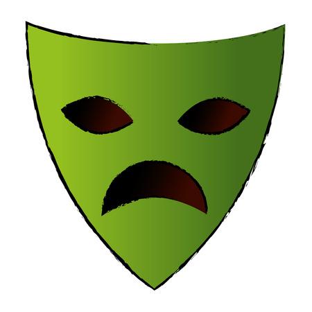 Maschera teatrale isolato icona illustrazione vettoriale di progettazione Archivio Fotografico - 87292635